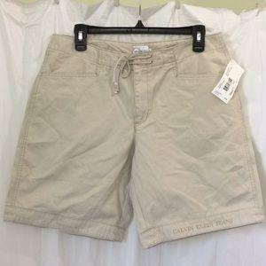 NWT Calvin Klein Tie Front Bermuda shorts size 9